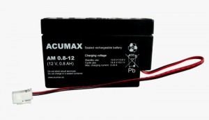 AKUMULATOR AGM ACUMAX AM 0.8-12 12V 0.8AH
