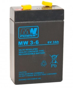 Akumulator MW Power MW 3-6 6V 3Ah